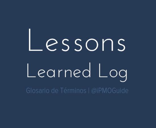 Lessons Learned Log