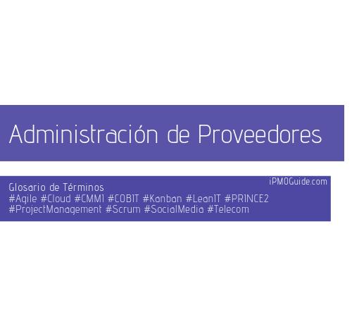 Administración de Proveedores