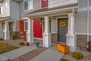 Pest control for Entry area of colorful townhomes in Utah Valley. Saratoga Springs has many family-friendly features around their suburbs.