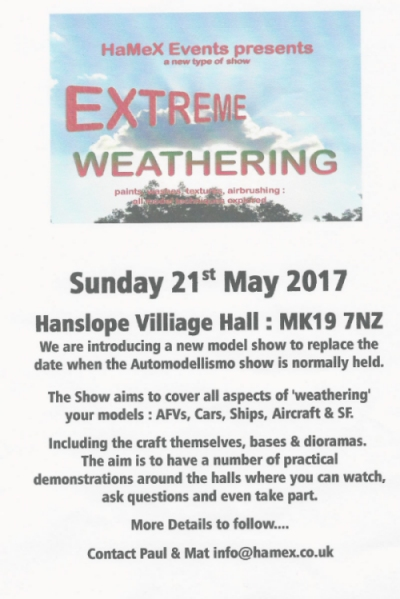 Hamex Extreme Weathering May 2017 flyer