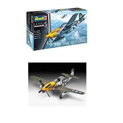 Revell P51-D-5NA Mustang Box and Made Up Model