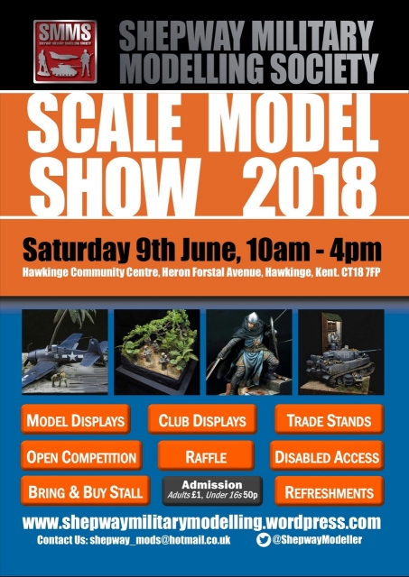 Shepway Military Modelling Society Annual Show Poster 2018