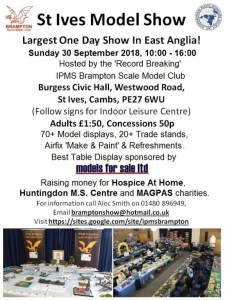 St Ives Model Show Flyer 2018