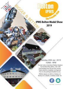 IPMS Bolton Scale Model Show 2019 flyer