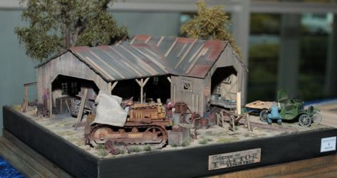 SMW 2016 BEST DIORAMA - Logging and Tractor Repair Shed by Akos Szabo