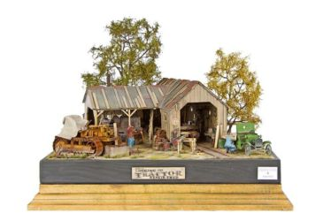 Class 83 Gold, Diorama Category Winner, John Nicklin Challenge Shield - Logging and Tractor Repair Shed by Akos Szabo