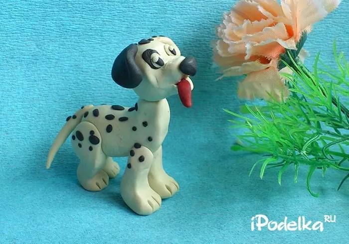 Chó con Dalmatian từ plasticine