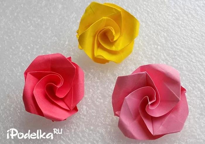 Origami Rose Қадамдық схема