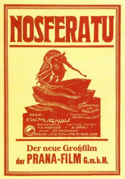 Movie poster of Nosferatu, via Breve Storia del Cinema (PD) - Flickr.com