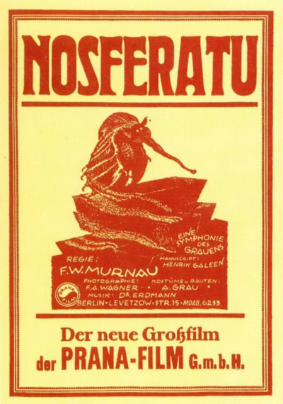 Movie poster of Nosferatu, via Breve Storia del Cinema (PD) - Flickr.com