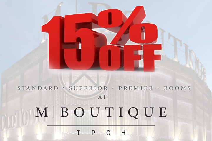 Discount at M Boutique Ipoh