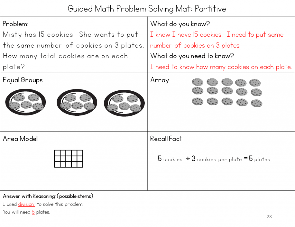 1 And 2 Step Problem Solving With Multiplication And Division