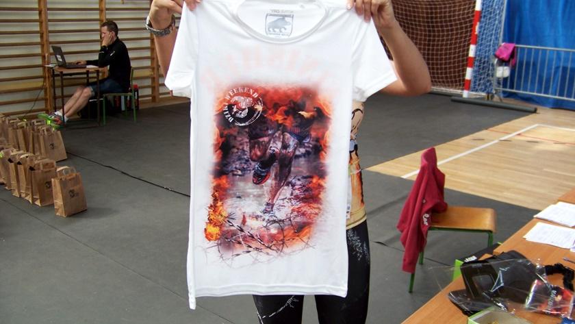 Koszulka - pamiątka z dzikiego biegania