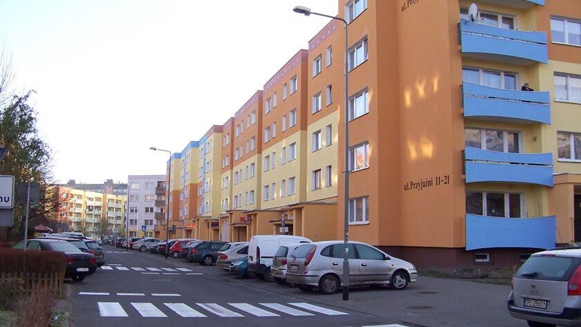 ulica Przyjaźni w Policach