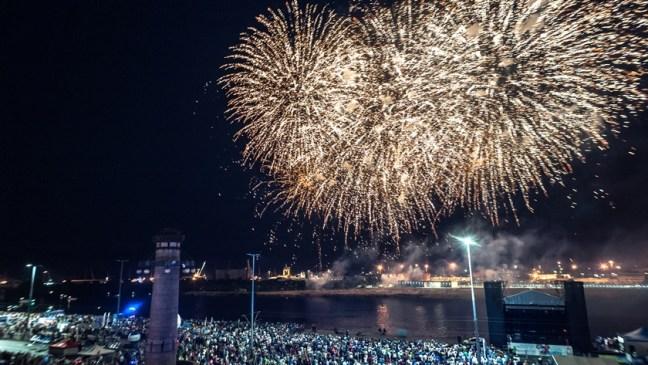 festiwal fajerwerków nad Odrą