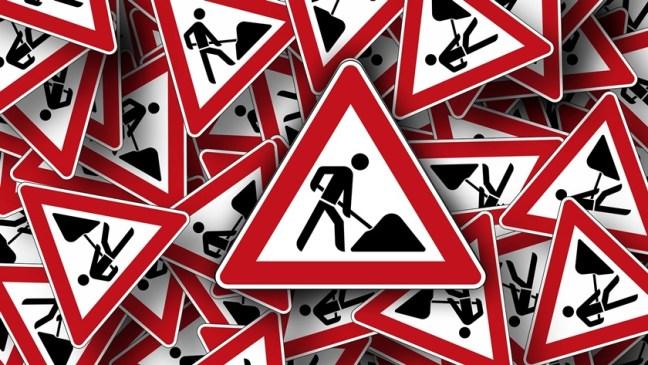 znaki roboty drogowe