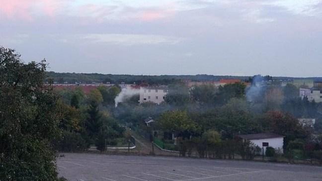 ogniska na działkach w centrum Polic
