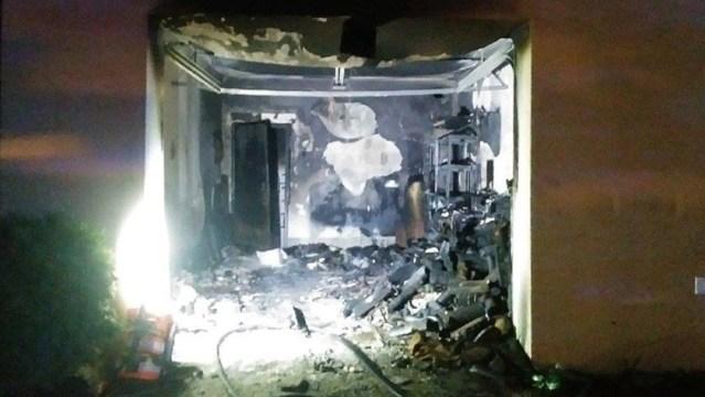 wypalone pomieszczenie