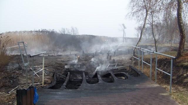 spalona promenada w Trzebieży