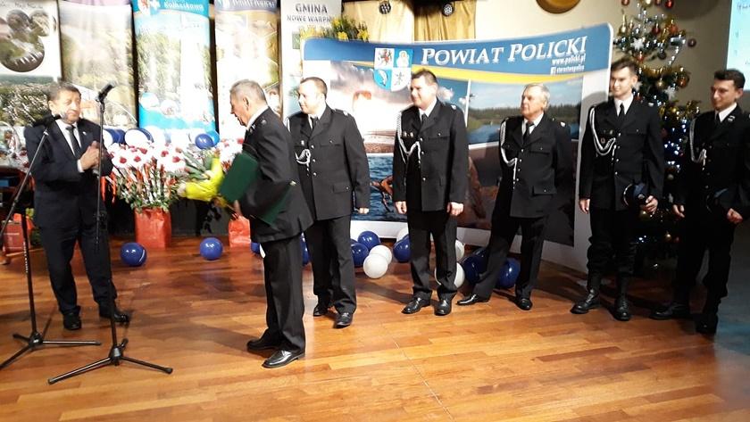 strażacy z Trzebieży uhonorowani