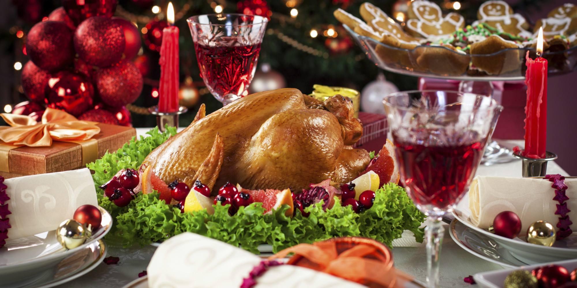 Christmas Dinner with turkey
