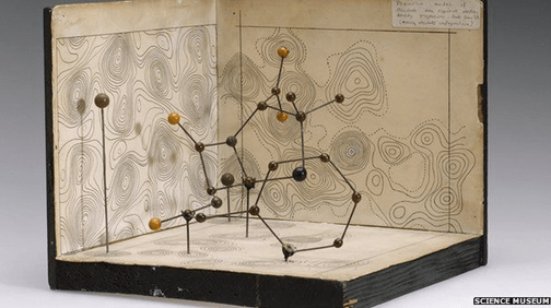 Dorothy Hodgkin's model of the Penicillin molecule