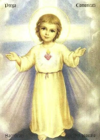 Gesù Bambino maestro di santità per tanti fanciulli, come NELLIE, EMMA e LUCA