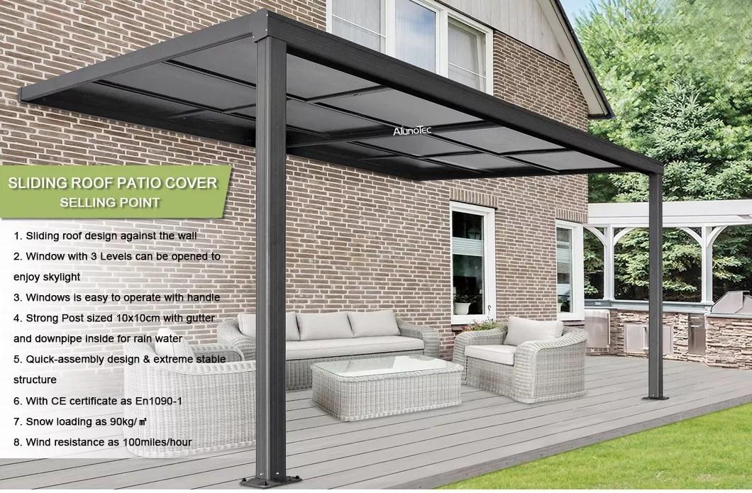 outdoor polycarbonate sliding patio