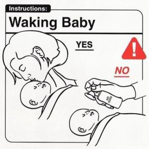 Waking baby - air horn