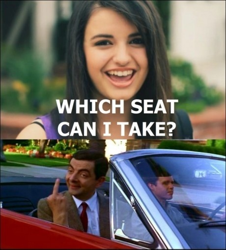 Rebecca Black mr bean which seat