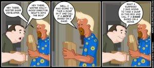 Take a Dump in a bag video game movies cartoon