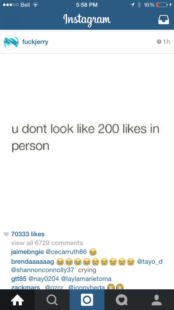 you dont look like 200 likes in person