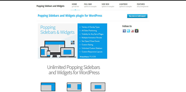 Popping Sidebars and Widgets