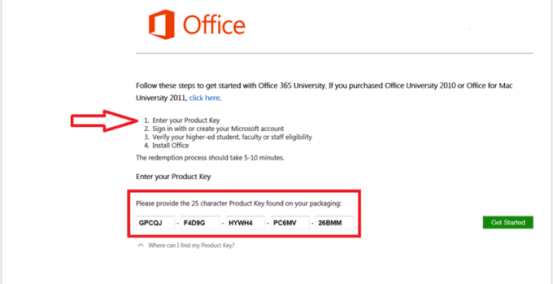 free office 365 product key 2019