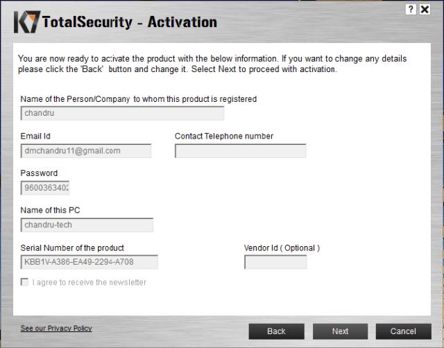 K7 Total Security Activation Key (2021) Working + Premium Serial Code
