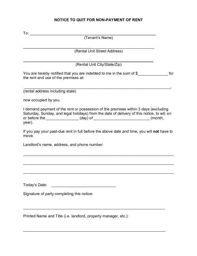 FREE Florida Eviction Notice Form [14]: Notice to Vacate  PDF