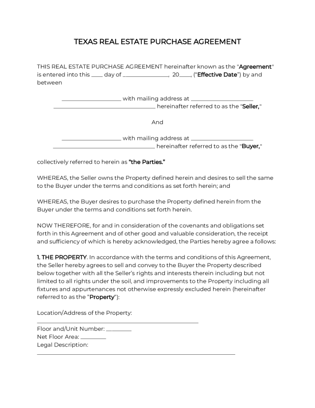 OFFICIAL Texas Residential Purchase Agreement [21]
