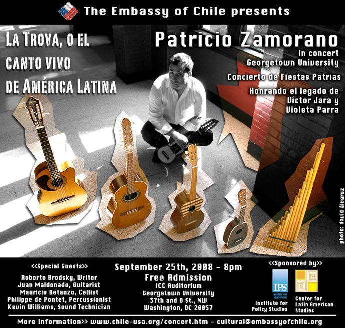 Patricio Zamorano in Concert