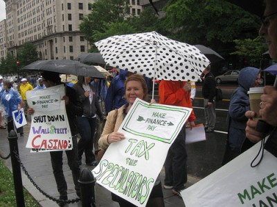 K St protest.