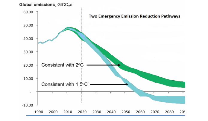 Two Emergency Emission Reduction Pathways