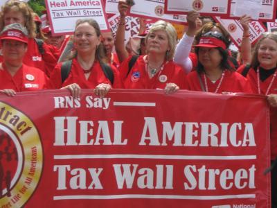 "Nurses Join Call to ""Tax Wall Street"""
