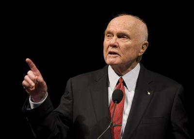 Former NASA astronaut and Senator John Glenn, pictured giving a lecture in 2009, stood up for the health of nuclear industry workers. Photo by NASA HQ.