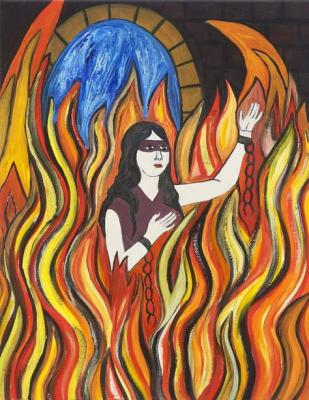 Susan Bee artwork, via On The Issues Magazine.