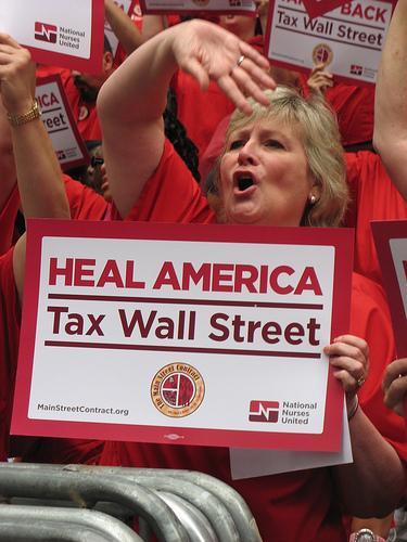 Nurses Push Tax on Trades to Help Sick