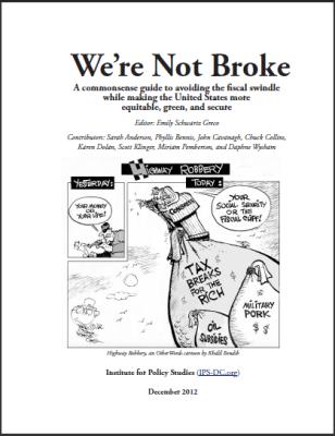 We're Not Broke report cover