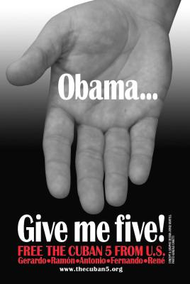 Campaign by the International Committee for the Freedom of the Cuban Five to write President Obama the fifth of each month.