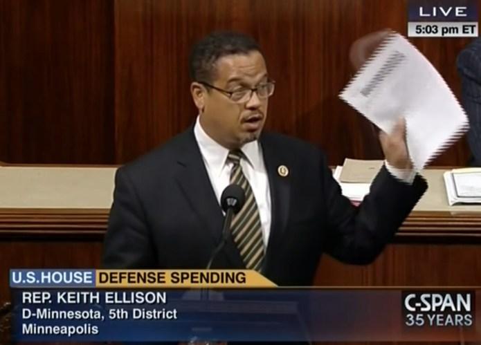 Keith Ellison Defense Spending Congress
