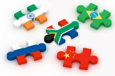 BRICS flags as puzzle pieces