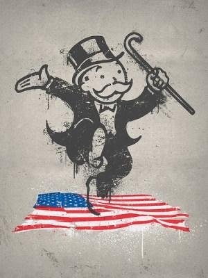 Monopoly Guy Graffiti