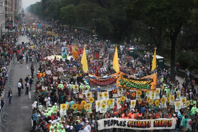 People's Climate March protest